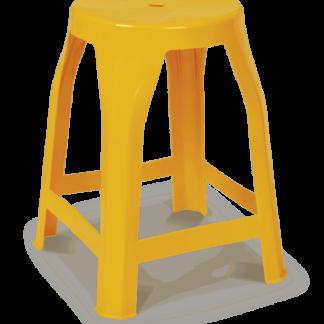 Banqueta de Plástico Vila da Foz Amarela