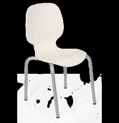 Cadeira de Plástico Maelhada Branca