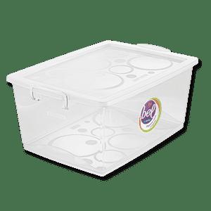 Caixa Organizadora Com Trava 60L Cristal