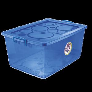 Caixa Organizadora Com Trava 60L Azul