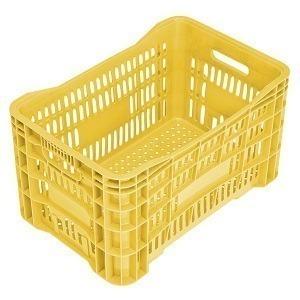 Caixa Plástica Vazada Amarela 30 Litros