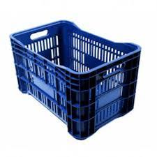 Caixa Plástica Vazada Colorida Azul