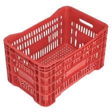 Caixa Plástica Vazada Vermelha 46 Litros