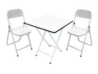 Conjunto Mesa Metalmix Madeira com Cadeiras de Aço