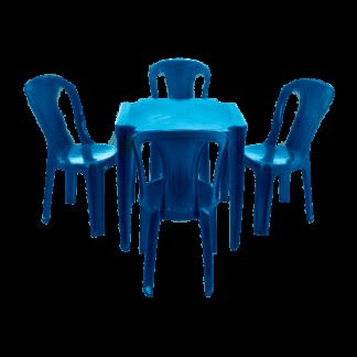 Jogo de Mesa e Cadeira de Plástico Plastex
