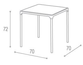 Mesa de Plástico Jasmim Preta
