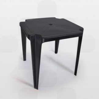 Mesa de Plástico Quadrada Planmar Preta