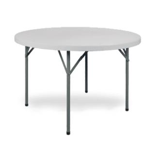 Mesa de Plástico Dobrável 150cm Cinza