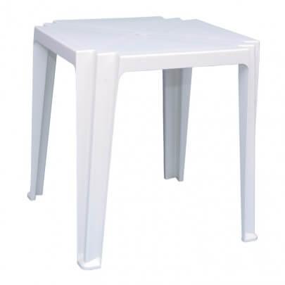 Mesas de Plástico Branca
