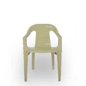Cadeira de Plástico Infantil Bege