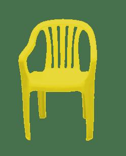 Poltrona de Plástico Classic Goyana Amarela