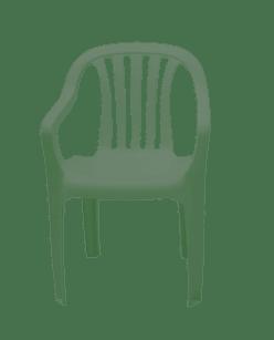 Poltrona de Plástico Classic Plus Verde