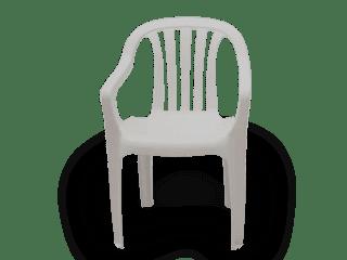 Poltrona de Plástico Classic Goyana Branca